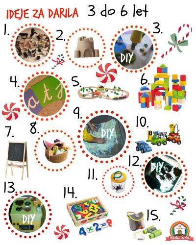 seznam daril 3-61